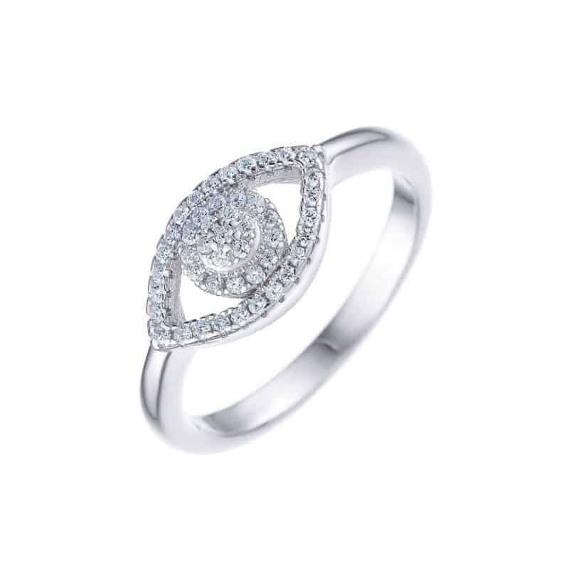 טבעת כסף 925 עין אדל