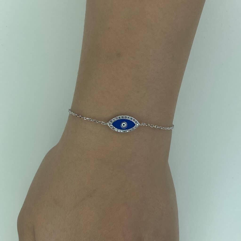 כסף 925 עין כחולה מלאה2