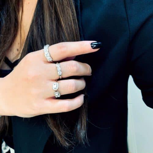 טבעת כסף 925 איימי