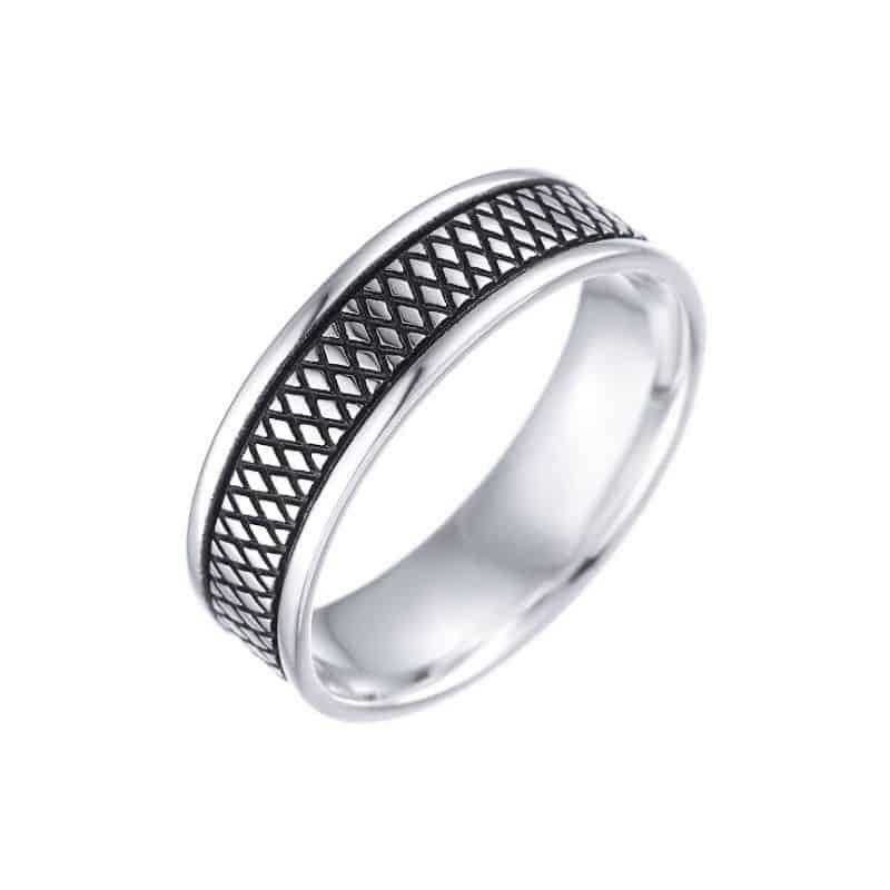 טבעת כסף לגבר הרן אנד דאמן