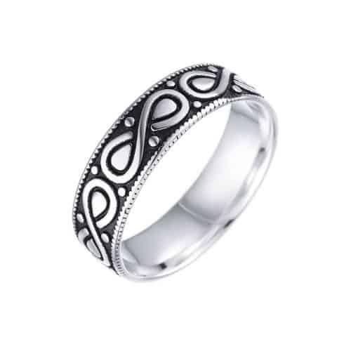 טבעת כסף 925 אינפיניטי לגבר