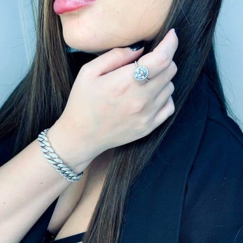 טבעת כסף 925 קלריס