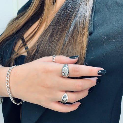 טבעת כסף 925 עין אמילי