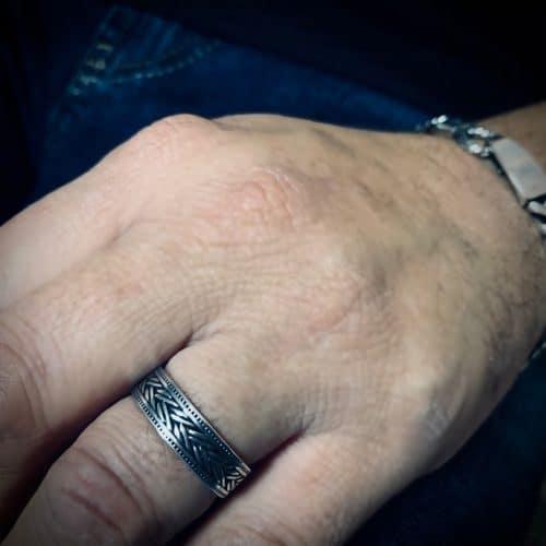 טבעת כסף 925 רומא
