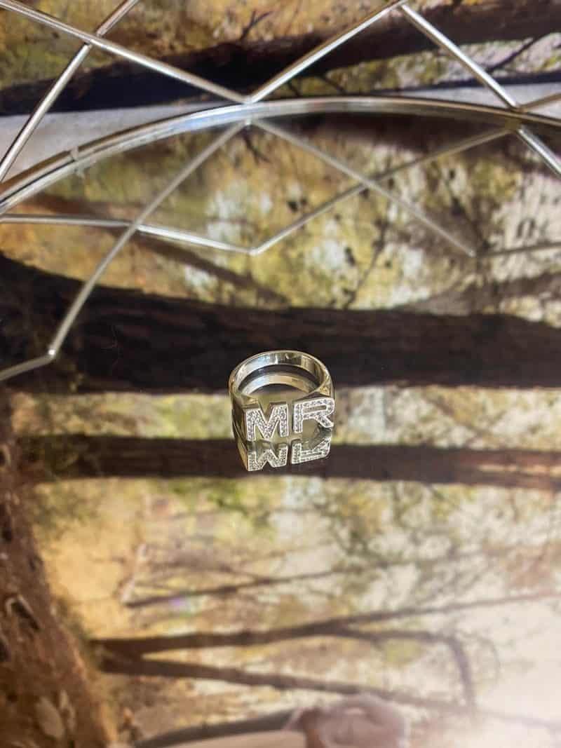 טבעת כסף 925 אותיות ספרקל טווין 2 scaled