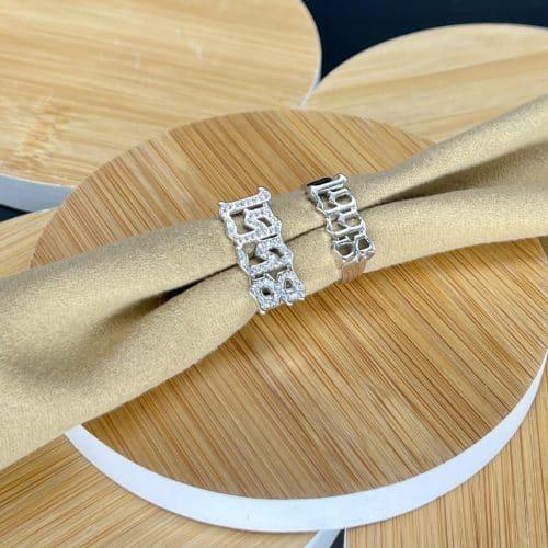טבעת כסף 925 נמברס