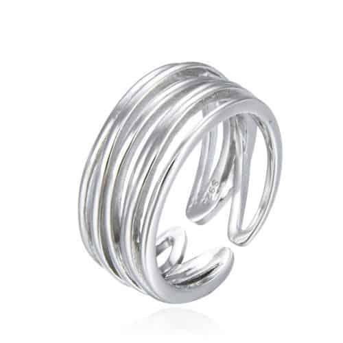 טבעת כסף 925 שובל