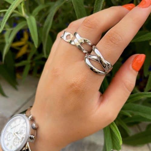 טבעת כסף 925 שלהב