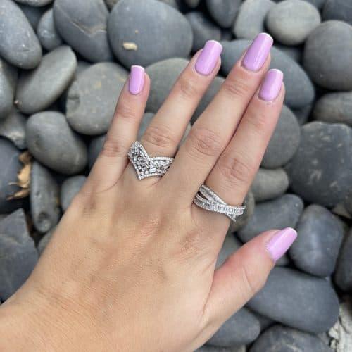 טבעת כסף 925 אלכסנדה
