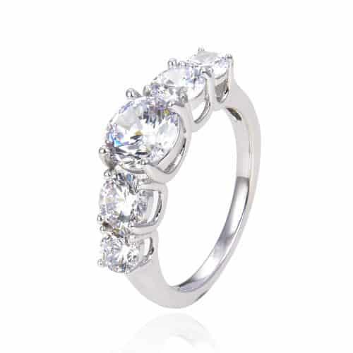 טבעת כסף 925 לטיסיה