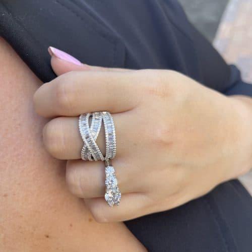טבעת כסף 925 ליאונרה