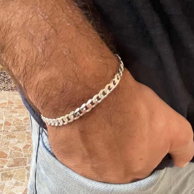 צמיד כסף איטלקי 925 פנדר עדין