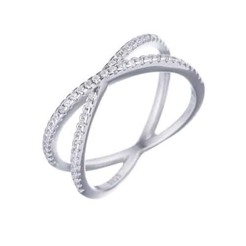 טבעת כסף 925 איקס קלאסית